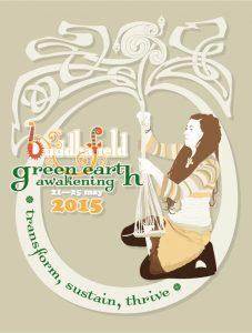 Buddhafield Green Earth Awakening Camp 2015, portrait 3:4 ratio poster