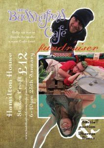 Poster: Buddhafield Café fundraiser, alternative two