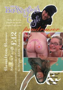Poster: Buddhafield Café fundraiser, alternative one