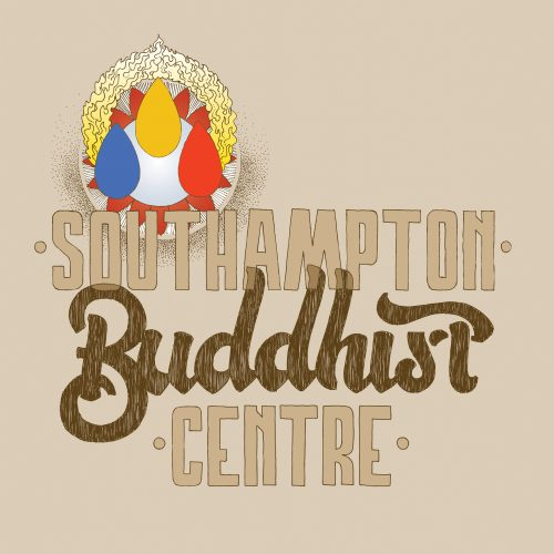 Hand drawn lettering for the Southampton Buddhist Centre