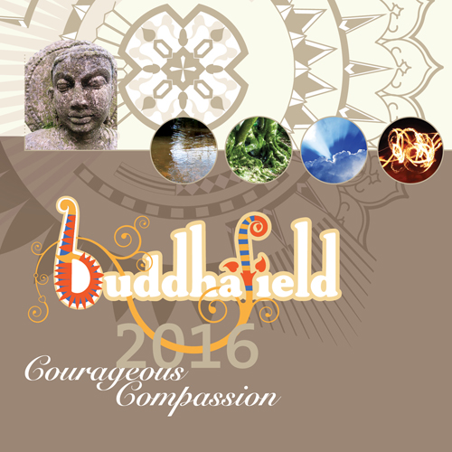 Cover detail, Buddhafield Programme brochure 2016
